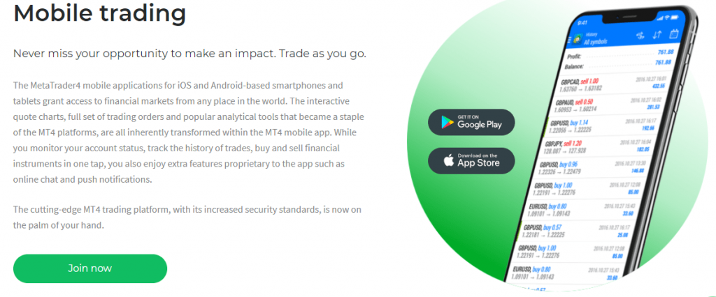 2Invest Mobile trading