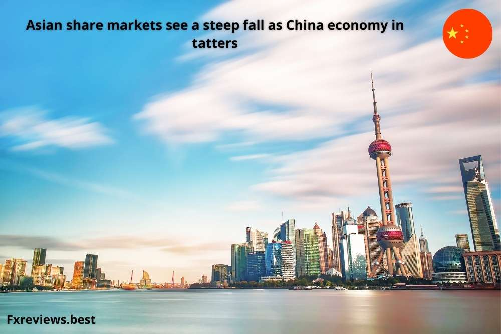 Asian share markets see a steep fall as China economy in tatters