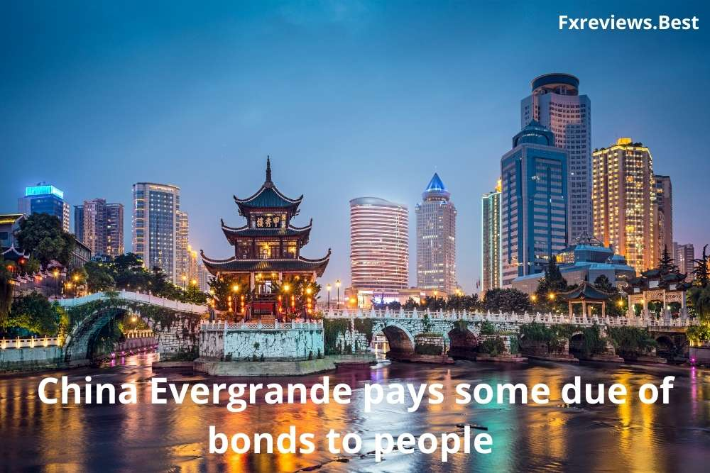 China Evergrande pays some due of bonds to people