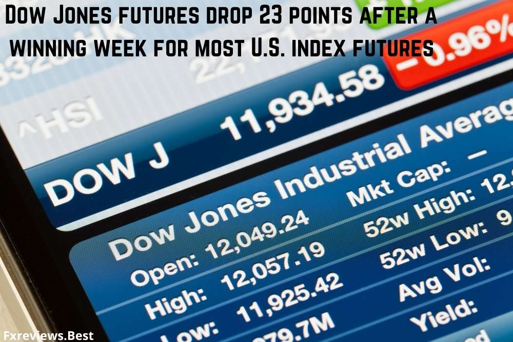 Dow Jones futures drop 23 points after a winning week for most U.S. index futures
